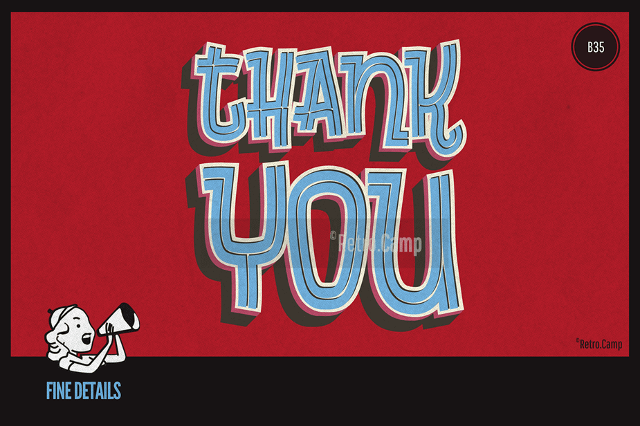 "B35 ""Thank-You Poster"""